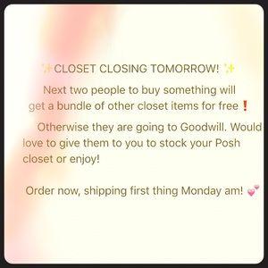 Deals!!! Closet closing!!